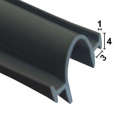 Bi-Fold Dichtung für Falttüren zum einschieben - Dunkel Grau