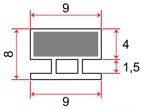 Einschubdichtung 8mm T-breite