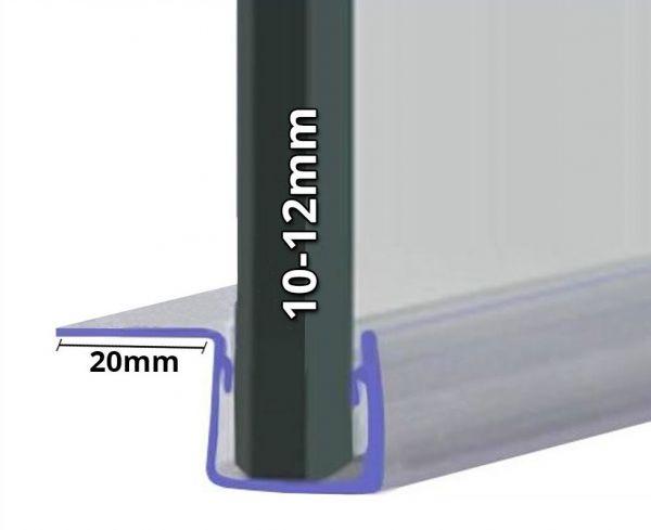 Muster von Duschdichtung mit 90° Lippe für 10mm-12mm Glasstärke