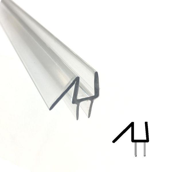 Muster von Wasserabweiser mit Doppel-Lippe für 6mm Glas