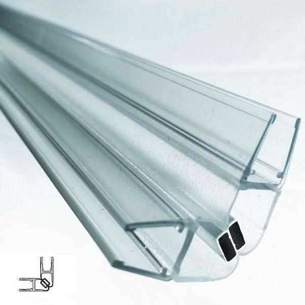 Magnet Duschdichtung 90° für Glas Stärke 5mm - 2000mm Lang - Paarweise verkauft
