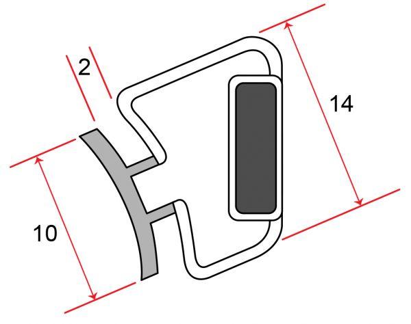 Einschubdichtung 135° zum einschieben 2m, im Set 1 x Links & 1 x Rechts