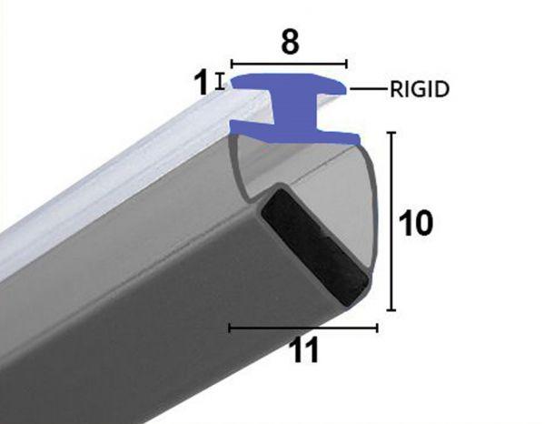 Muster von LC006 - Magnetdichtung 45° & 180° zum Einschieben für die Diversen Aluminium Dusch Rahme