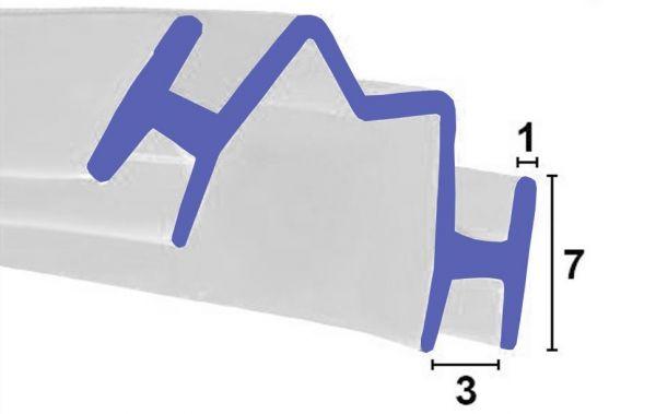 Bi-Fold Dichtung für Falttüren zum einschieben