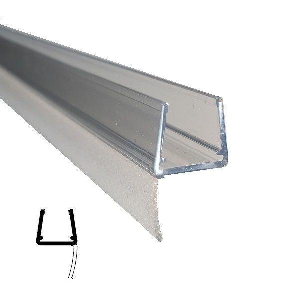 Muster von Mitteldichtprofil kurz, für 10/12 mm Glas