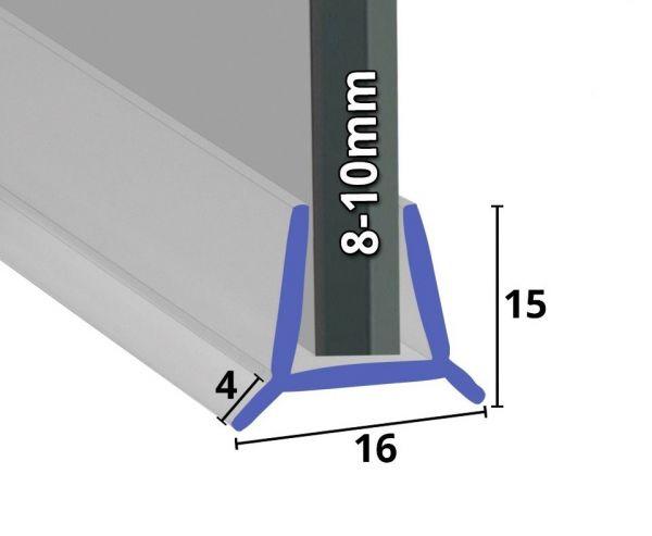 Wasserabweiser für Badewannen Glastüren 8mm - 10mm