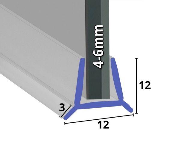 Wasserabweiser für Badewannen Glastüren 4mm - 6mm