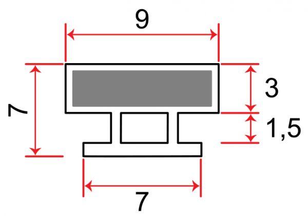 Einschubdichtung 7mm T-breite