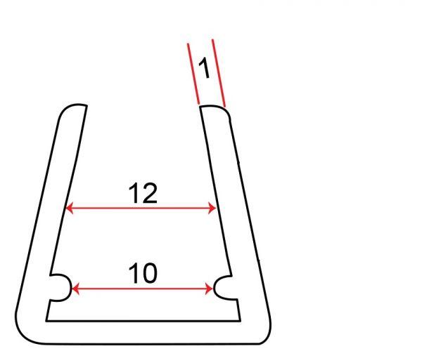 Musterprofil von Kantenschutz 10-12mm