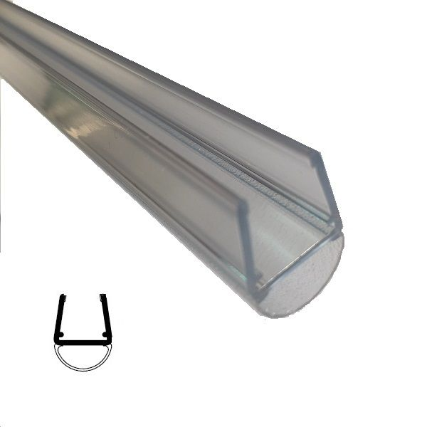 Muster von Streifdichtung, 10/12 mm Glas