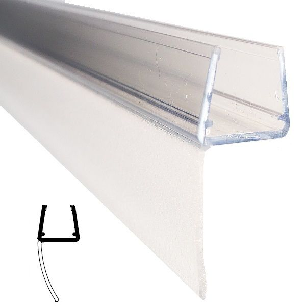 Mitteldichtprofil lange Lippe, für 10/12 mm Glas Länge 2500mm