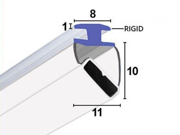 Magnetdichtung zum Einschieben 90° & 180° (2x45°) 2m Lang, Weiß, Paarweise verkauft.