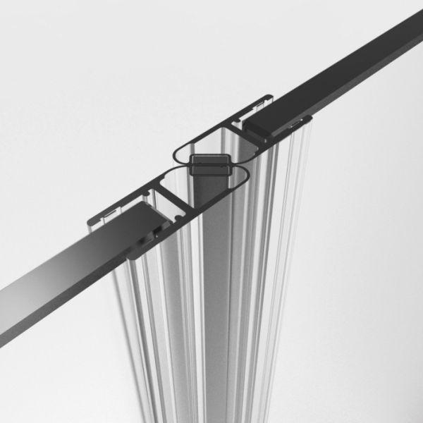 Magnetprofile 180°, (2x45°)10/12 mm Glas Paarweise verkauft