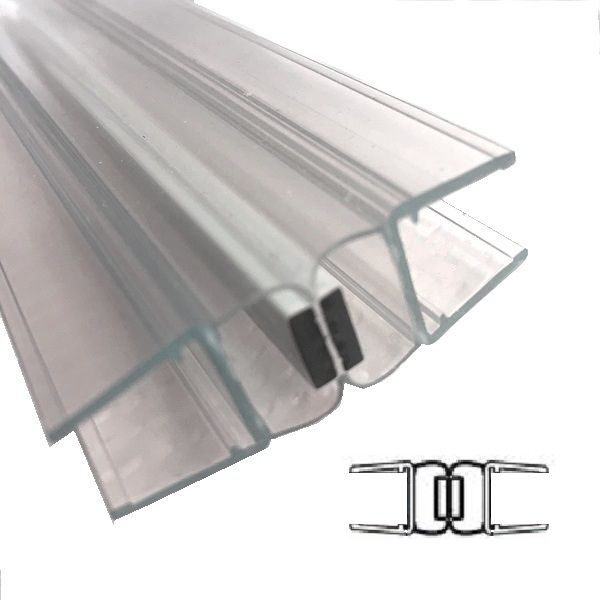 Muster von Magnetprofile 180°,für10/12mm Glas
