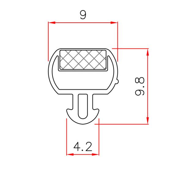 Magnetdichtung zum Einstecken 2m Lang
