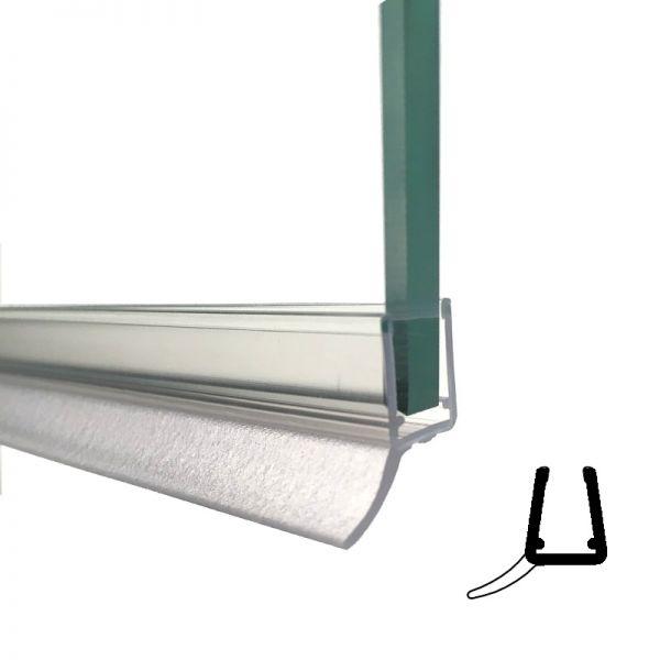 Seitl. Dichtprofil mit Lippe 135° für 10/12mm Glasstärke