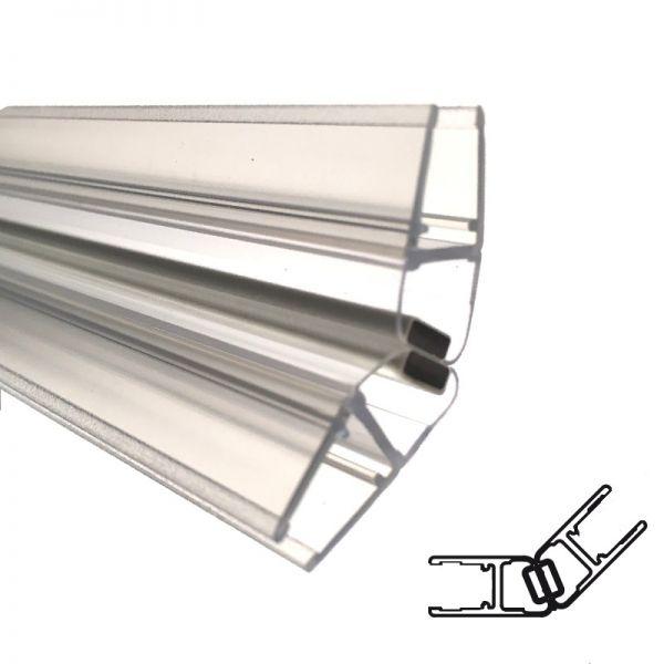Magnetprofile 135° für 5mm Glas, Paarweise verkauft, 2000mm Lange