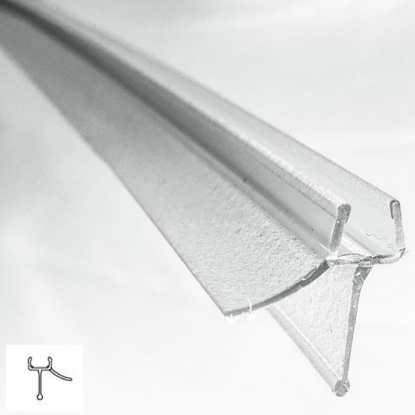Muster von Wasserabweiser klein mit Lippe, 8 mm Glas