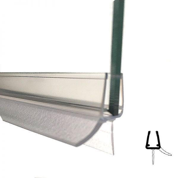 Wasserabweisprofil mit Lippe, 5 mm Glas