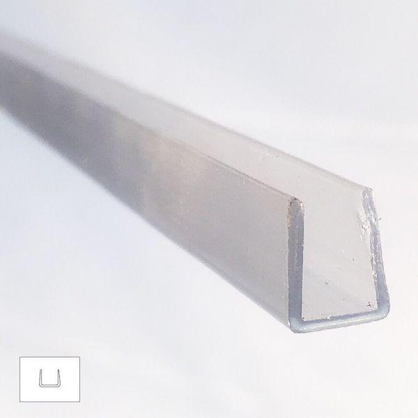 Muster von U - Ausgleichsprofil für 6mm Glas