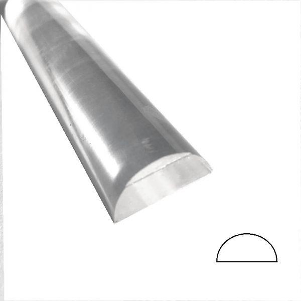 Acryl - Halbrundstab, Radius 10 mm