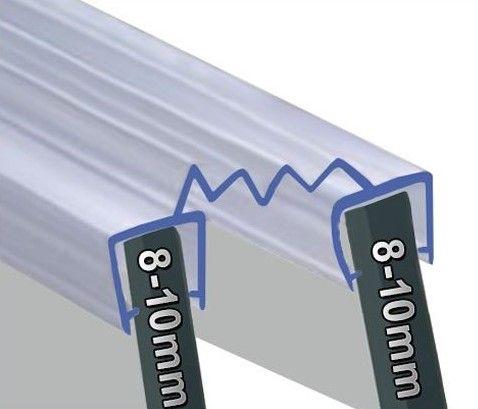 Bi-Fold-Falttüren Dichtung in 1600mm und 2000mm Länge 8-10mm Glasstärke