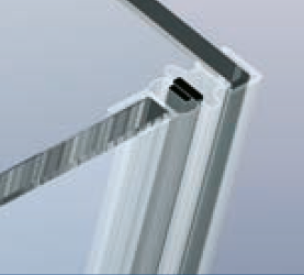 Magnetprofile 90°, für Pendeltüren Länge 2500mm