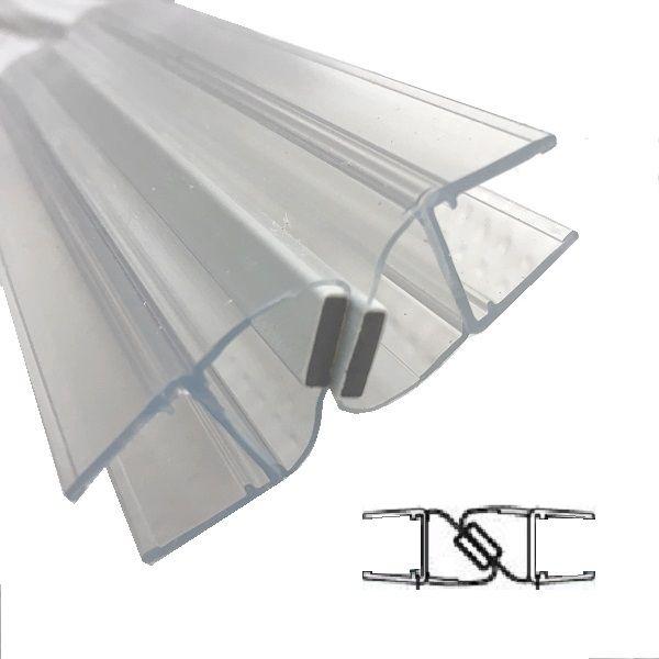 Magnetprofile 180°, (2x45°)10/12 mm Glas Länge 2500mm
