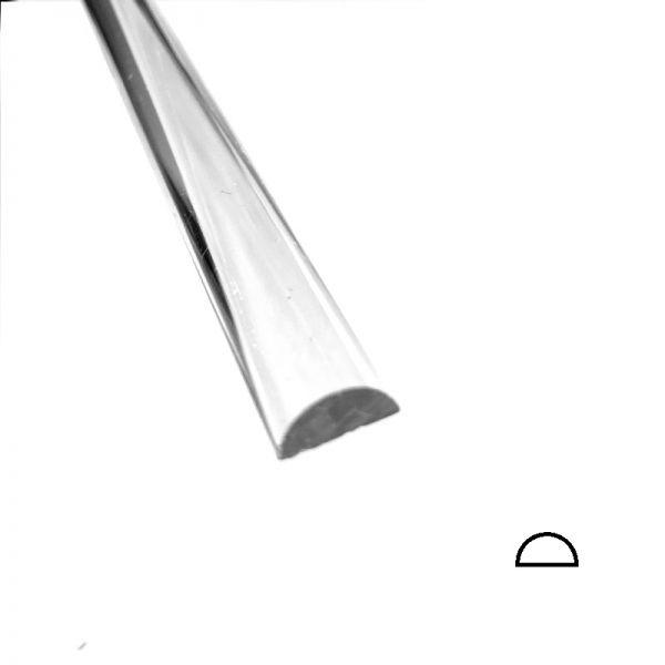 Acryl - Halbrundstab, Radius 5 mm