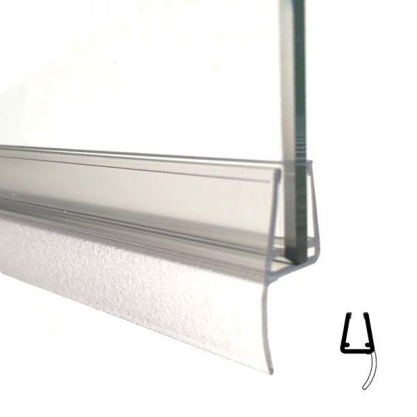 Muster von Mitteldichtprofil mit weicher Lippe, 5mm Glas